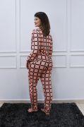Pijama Manga Longa e Botões Sophia