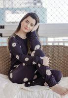 Pijama Manga Longa em Visco Liz Preto